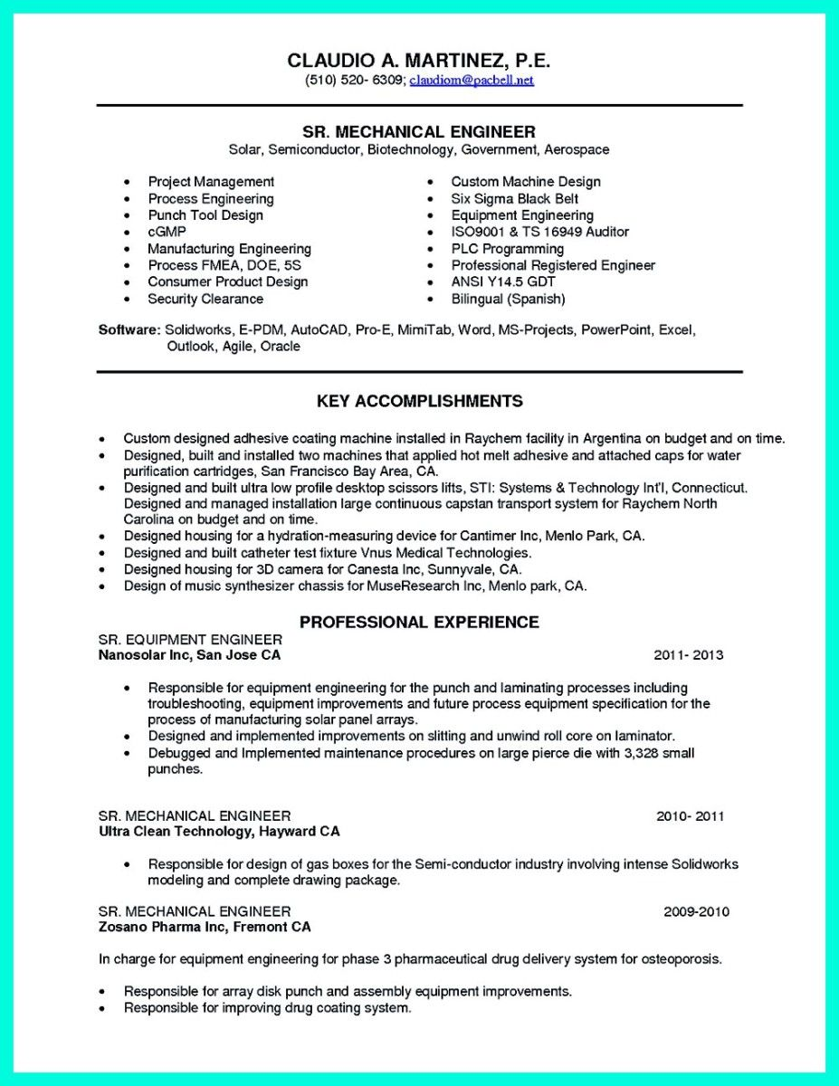 cool Successful Objectives in Chemical Engineering Resume, Check ...