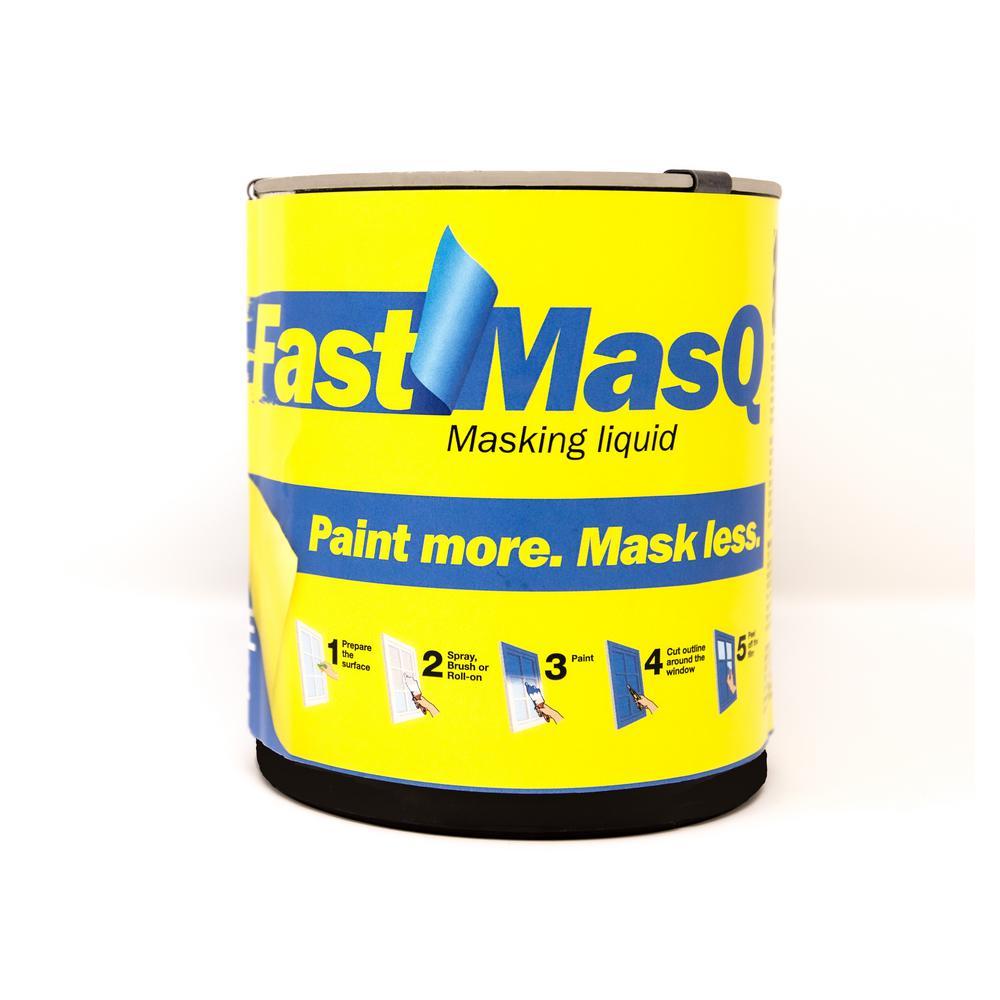 Fastmasq 1 Qt Liquid Masking Tape Interior Exterior Primer 890704000006 The Home Depot In 2020 Exterior Primer Masking Tape Doors And Floors