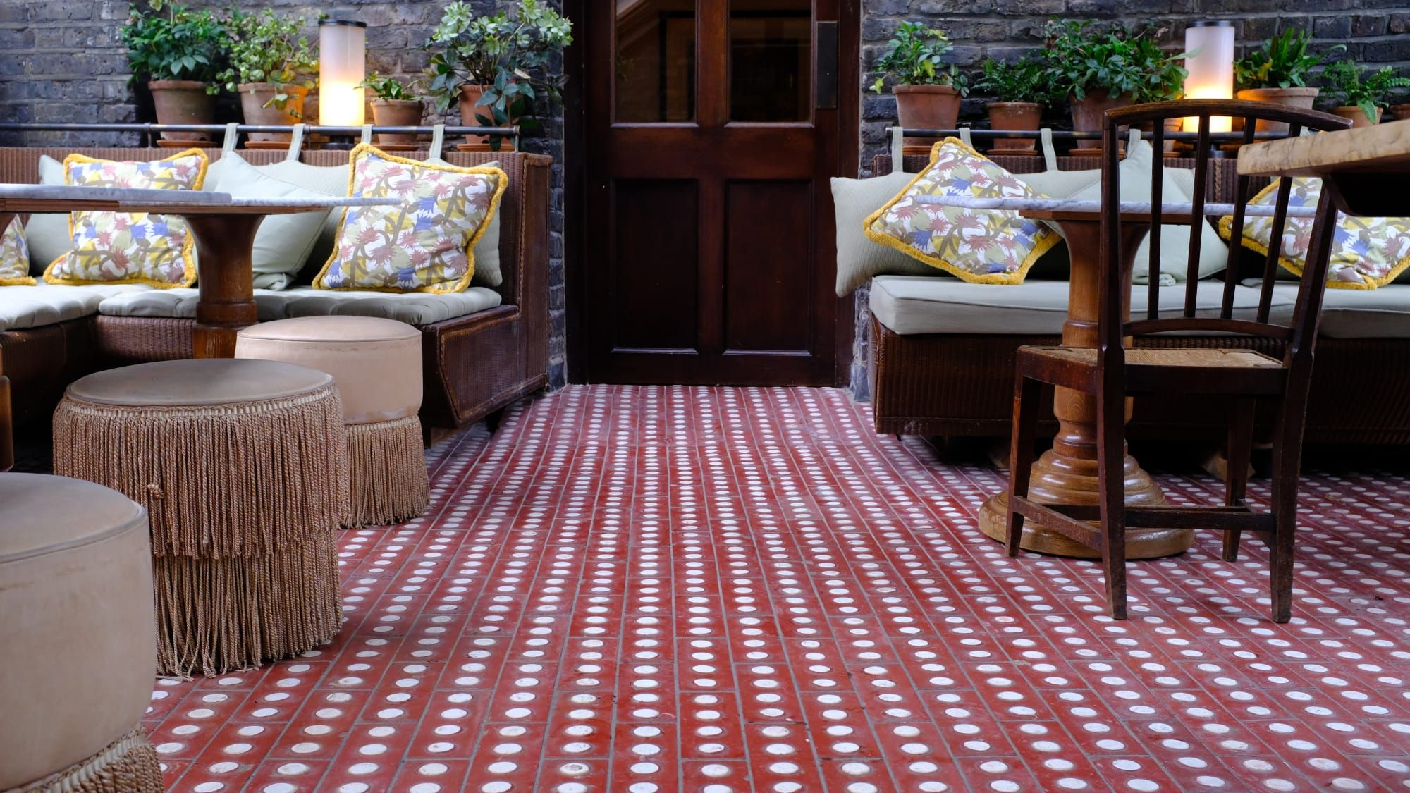 Hand Made Cement Tiles For Outside Patio By Otto Tiles And Design At Soho  House 40 Greek Street