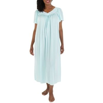 Miss Elaine Plus Size Petals Long Nightgown Night Gown