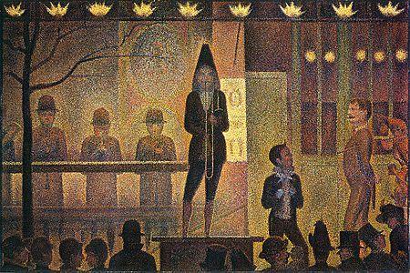 La Parade de cirque (1887–1888), New York, Metropolitan Museum of Art.