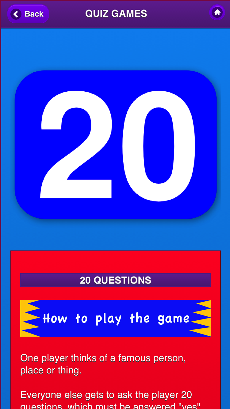 car the Adult trivia games for