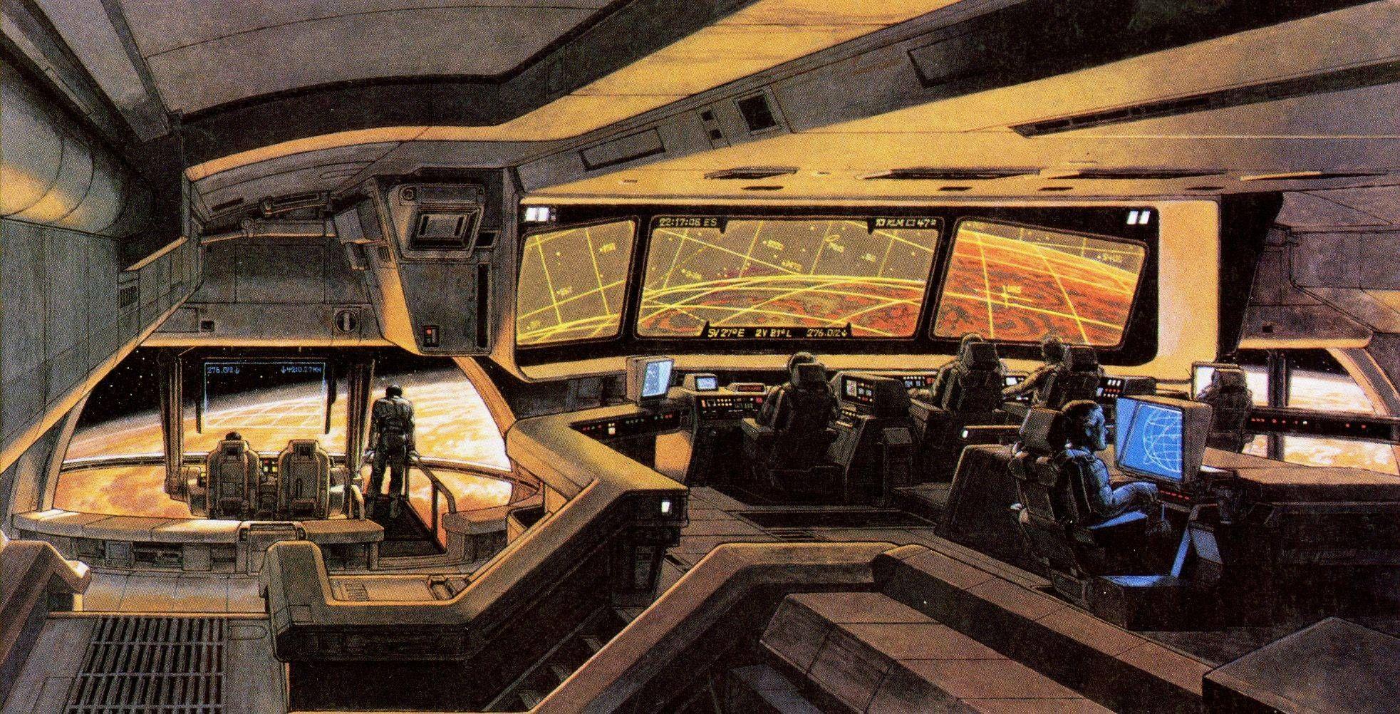 single person bridge sci fi spacecraft - photo #18