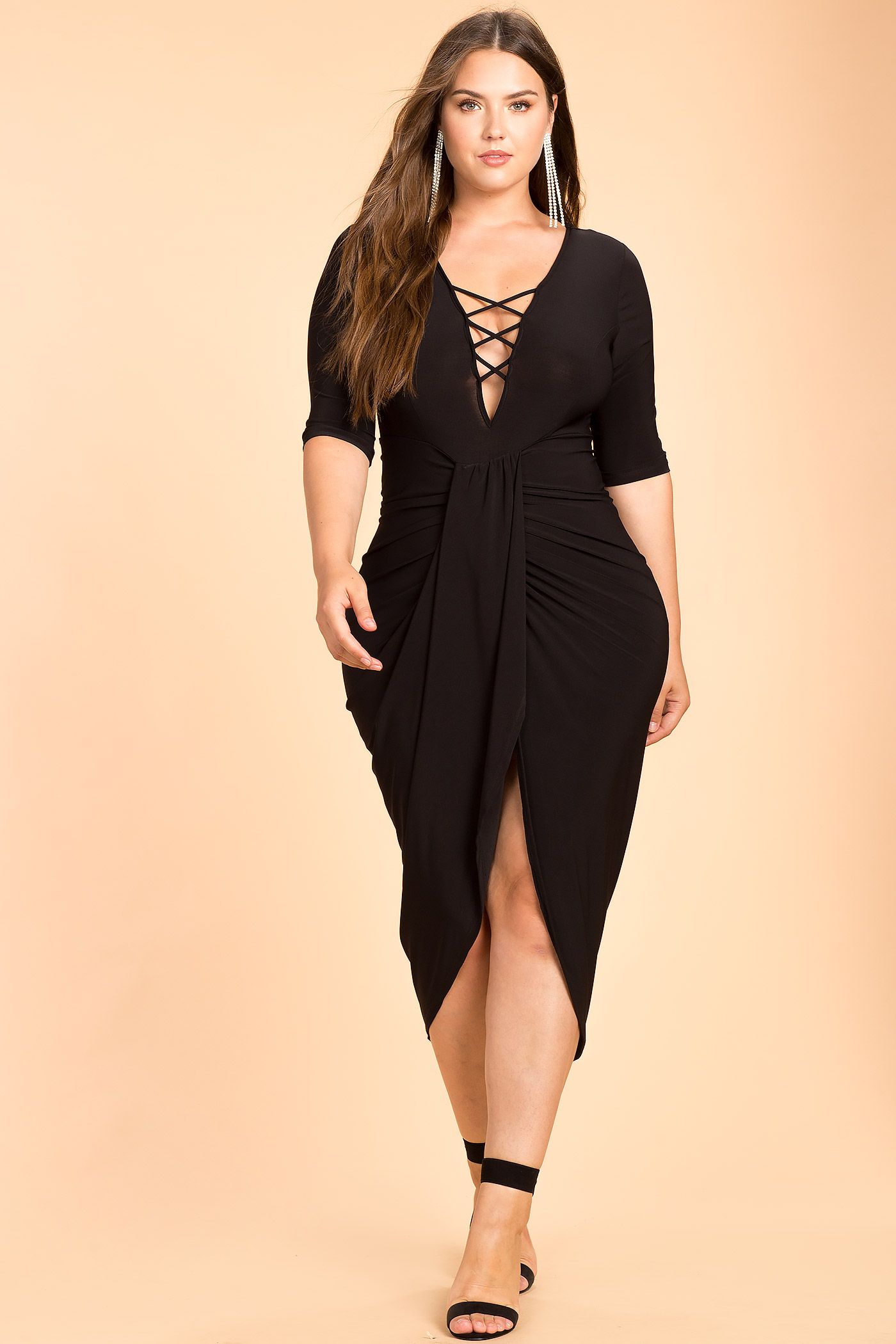 Black tulip dresses plus size