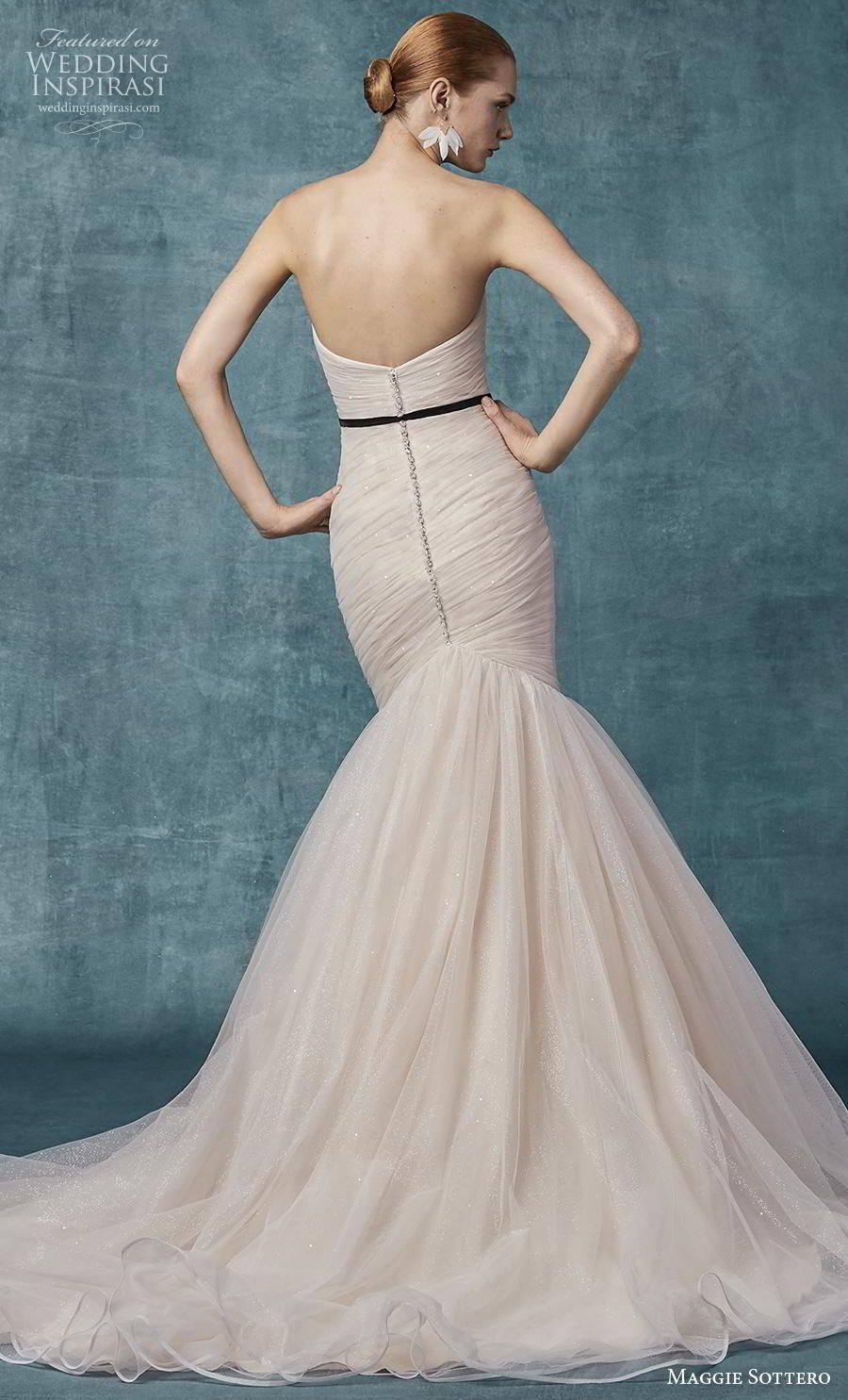 53bf4a07a1f Weddinginspirasi.com featuring - maggie sottero spring 2019 bridal  strapless sweetheart neckline wrap over ruched bodice simple blush mermaid  wedding dress ...