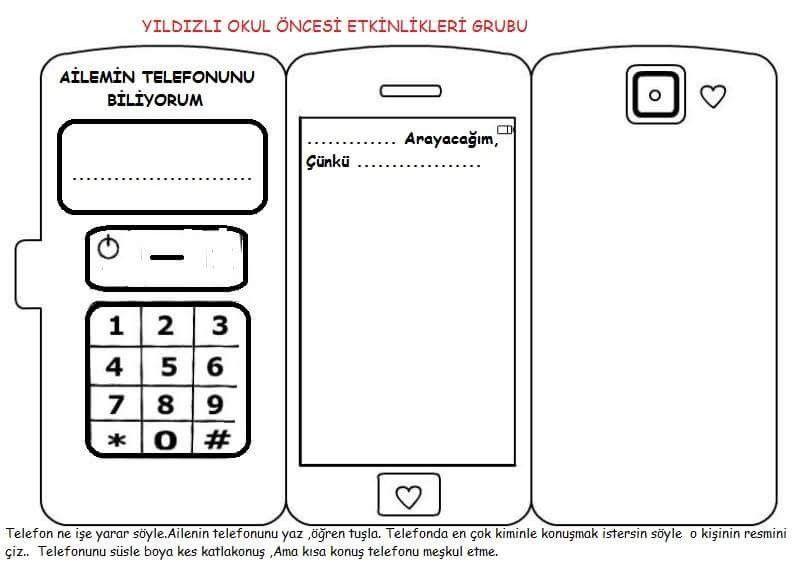 Telefon Boyama Etkinliği Faaliyetlerim Pinterest