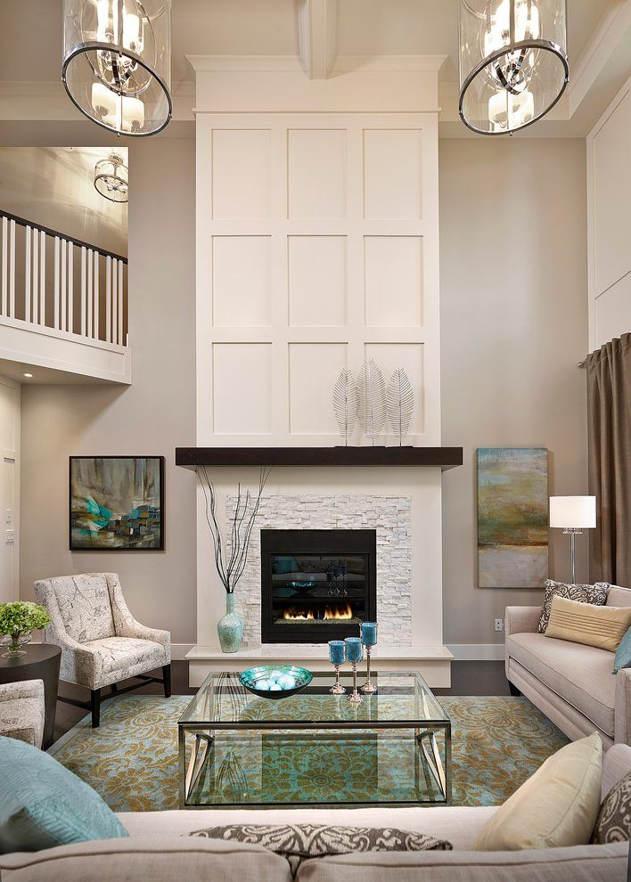 Painted Wooden Fireplaces Living Room Transitional With High Ceiling Traditional Artificial Flower Living Room Remodel Transitional Living Rooms Home Fireplace