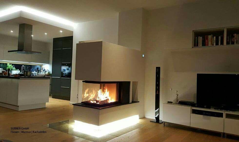 Jetzt wird es Zeit zum Einheizen Origineller Panorama Kamin mit - ofen für wohnzimmer