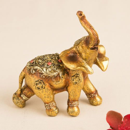 Glorious Gold Mini 4x4 Elephant Wedding Favors Are Perfect For