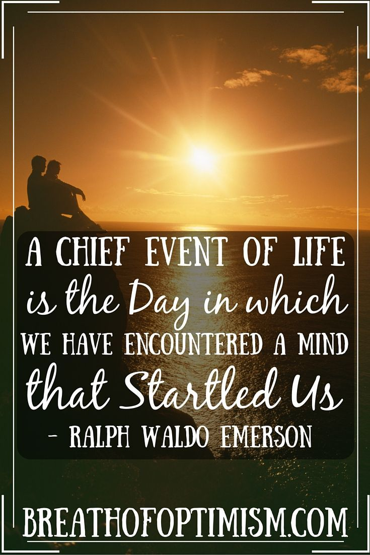 A Ralph Waldo Emerson Quote On Expanding Your Mind And Having A
