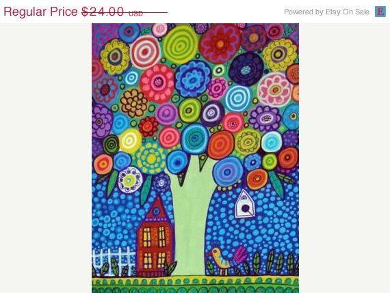 50 OFF SALE  Landscape Art  TREE Art Print  by HeatherGallerArt, $12.00