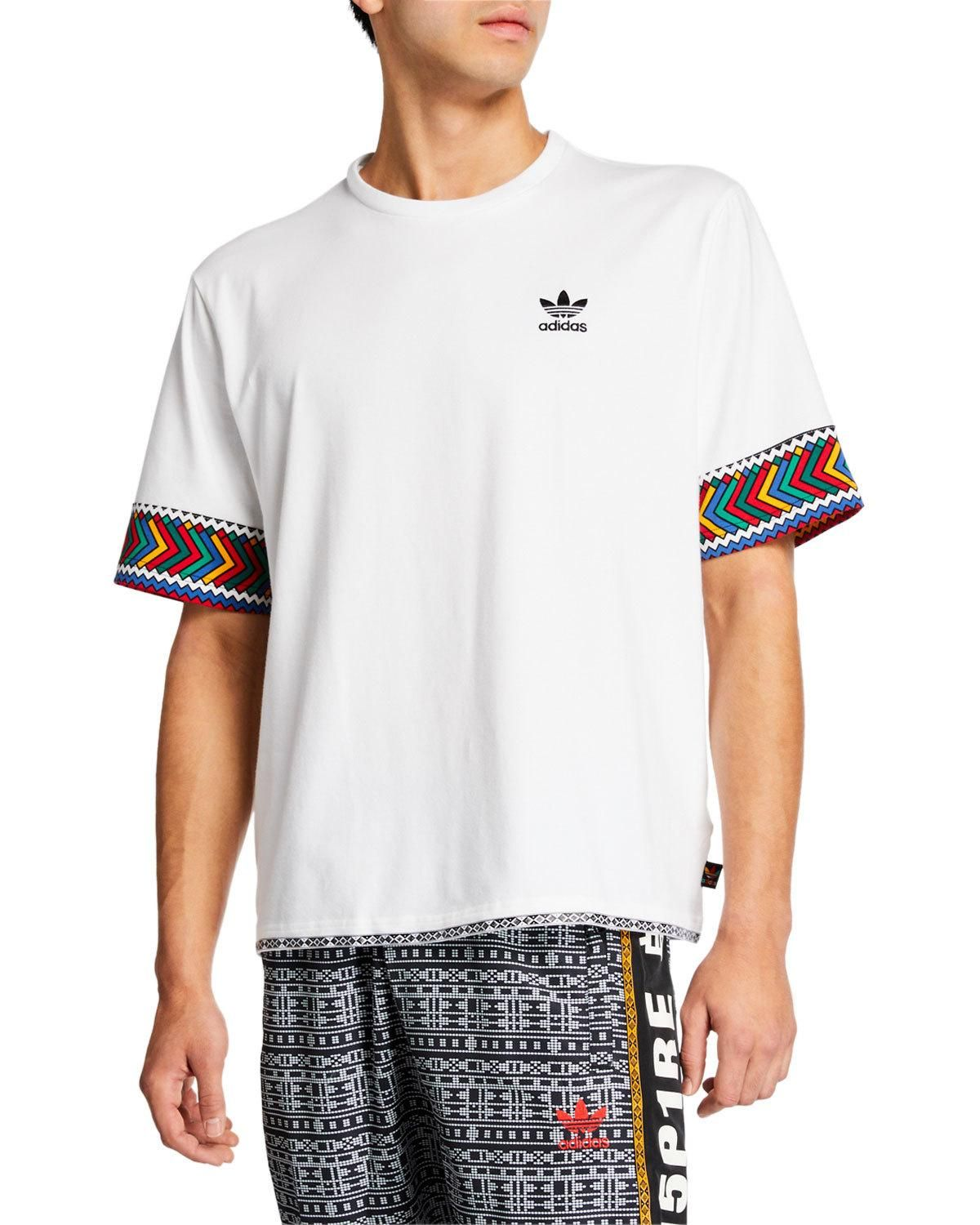 estaño Himno subterráneo  Men's X Pharrell Williams Solarhu Trefoil T-shirt In Multicolor ...