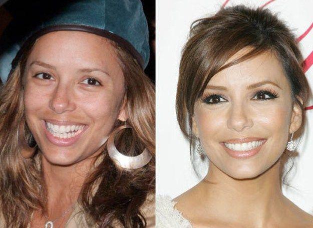Eva Longoria Before And After Makeup Look Makeup Tutorials Makeuptutorials Com  Celebrities Before And After Makeup Transformations