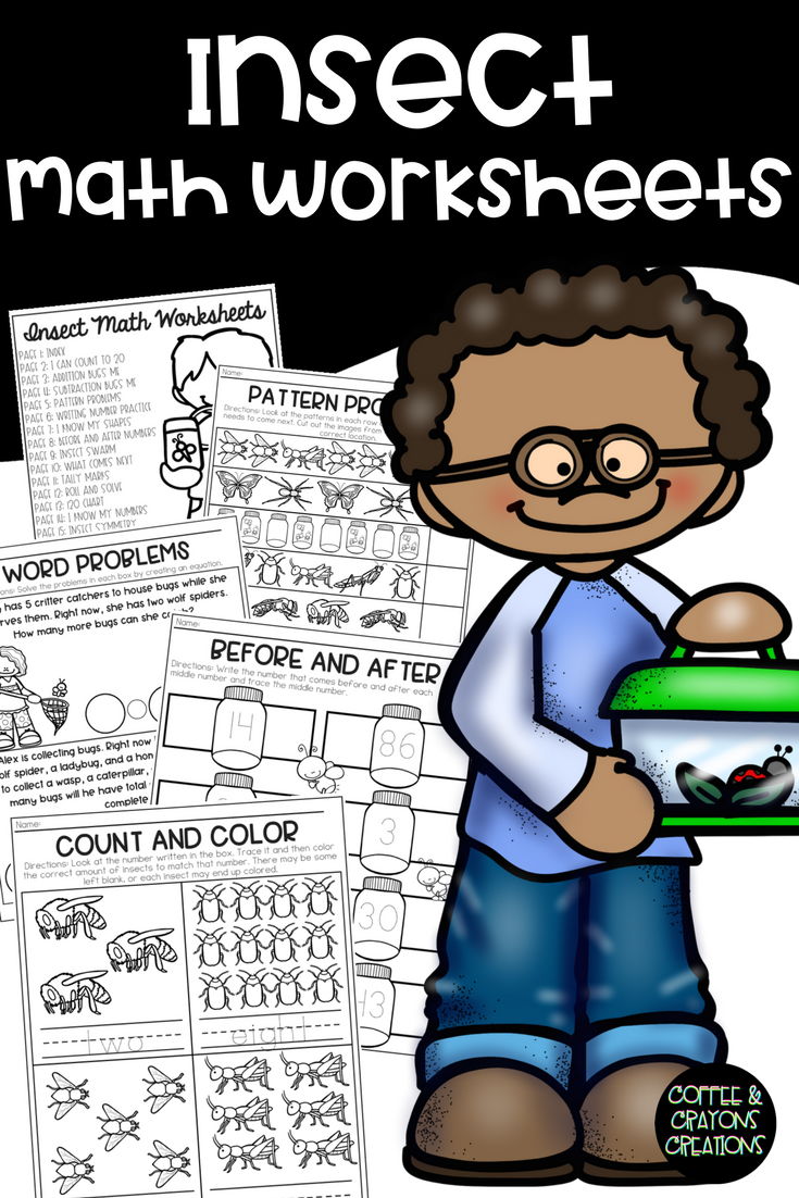 Insect Math No Prep Printables And Worksheets Perfect For An Insect Or Bug Theme Or Unit In The Preschool Kinderga Math Science Classroom Homeschool Classroom [ 1102 x 735 Pixel ]