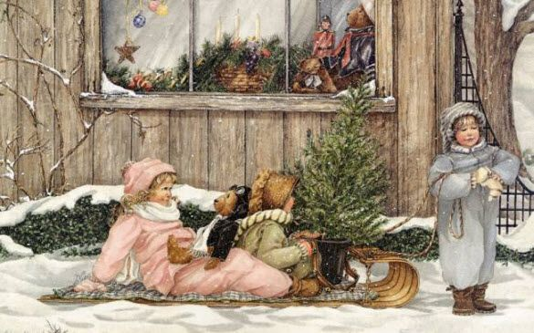 christmas oil painting - Google Search