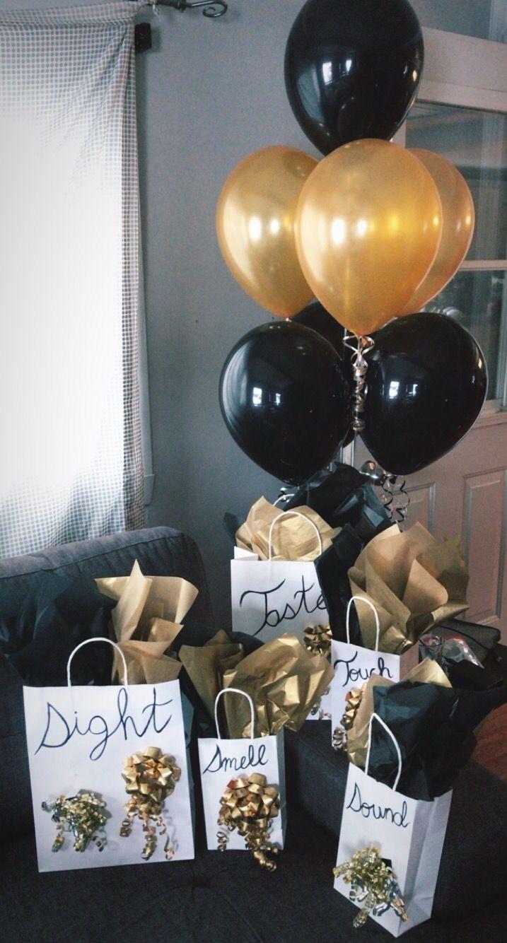 5 senses gift for my boyfriend's birthday! Birthday