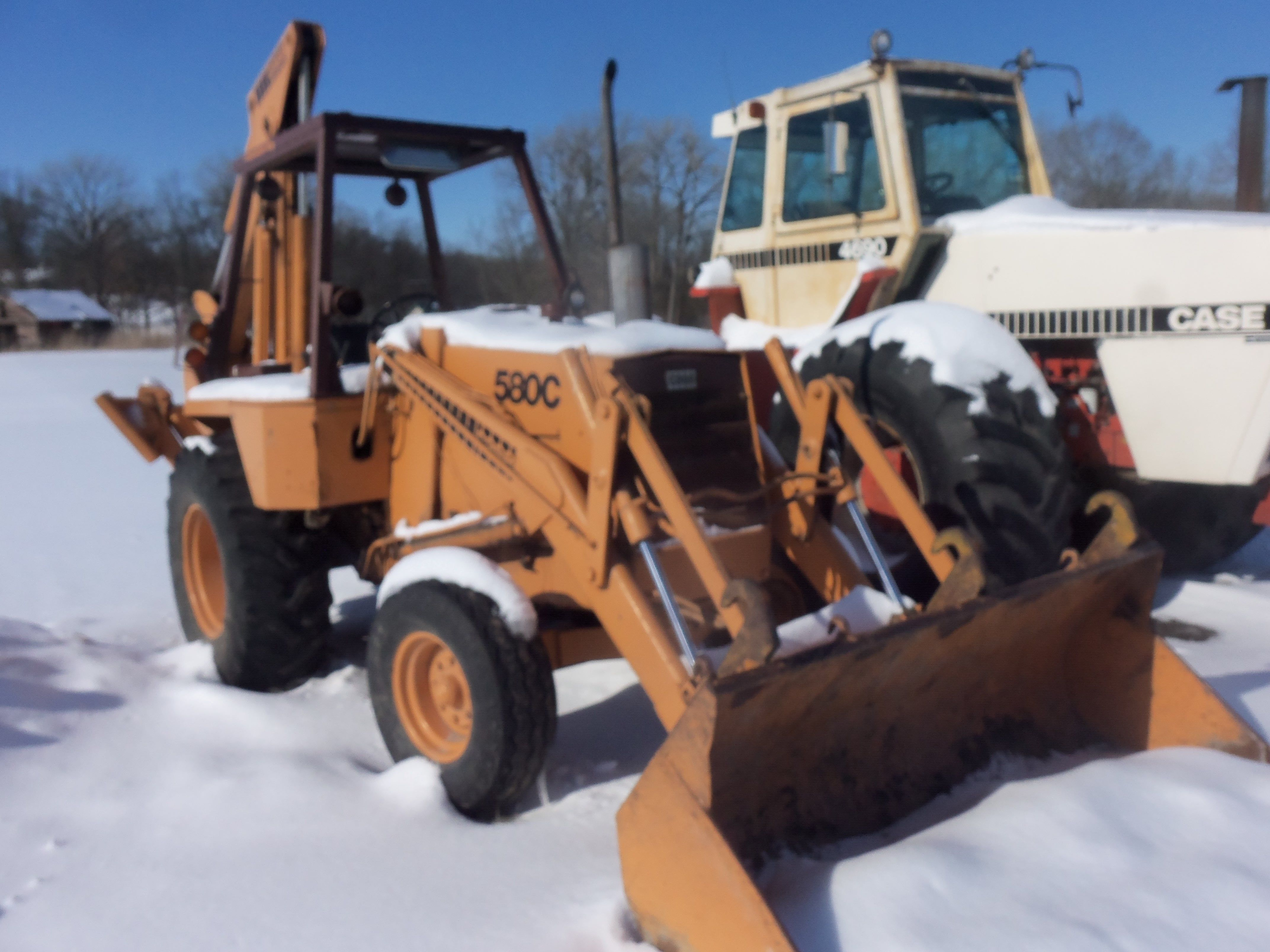 Case 580C tractor loader backhoe from late 1970s