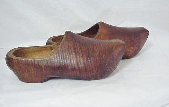 6f9760a5acf Wooden Shoes 1920s French Country Farm Shoes-Fill with Tulips ...