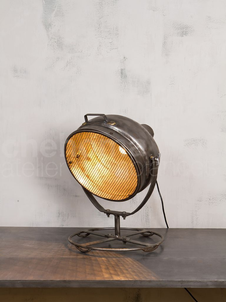 lampe projecteur industriel grillag objetos mobili rio industrial vintage industrial home. Black Bedroom Furniture Sets. Home Design Ideas