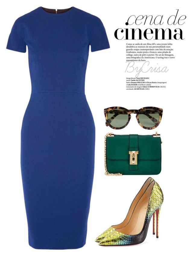 """""""Untitled #504"""" by crisa-gloria-eduardo ❤ liked on Polyvore featuring CENA, CÉLINE, Valentino, Victoria Beckham and Christian Louboutin"""