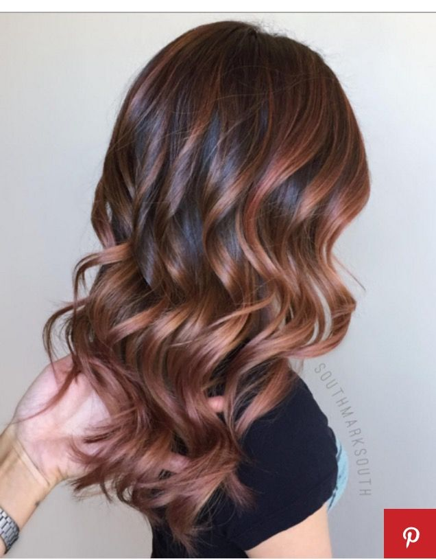 Pretty Color Brown Red Rose Gold Hair Ideas Pinterest Rose