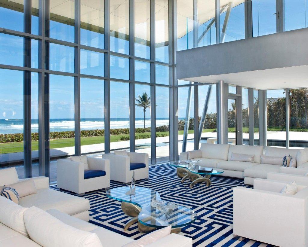 Blue & white coolness - beautiful #interiors.