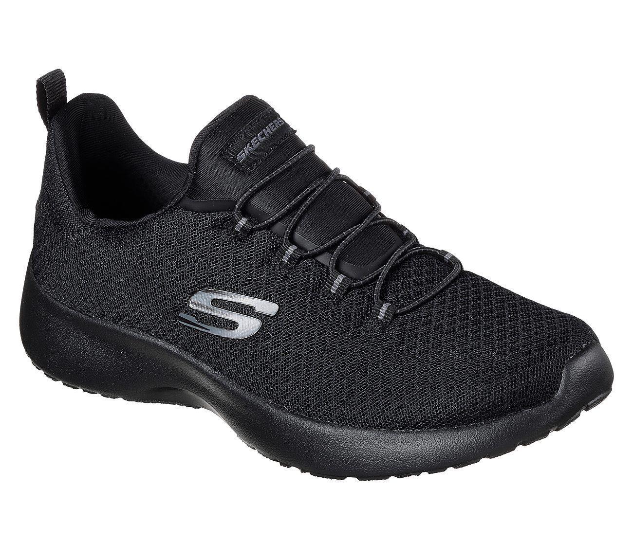 Skechers Dynamight Women S Slip On Sneakers Shoes Black Black