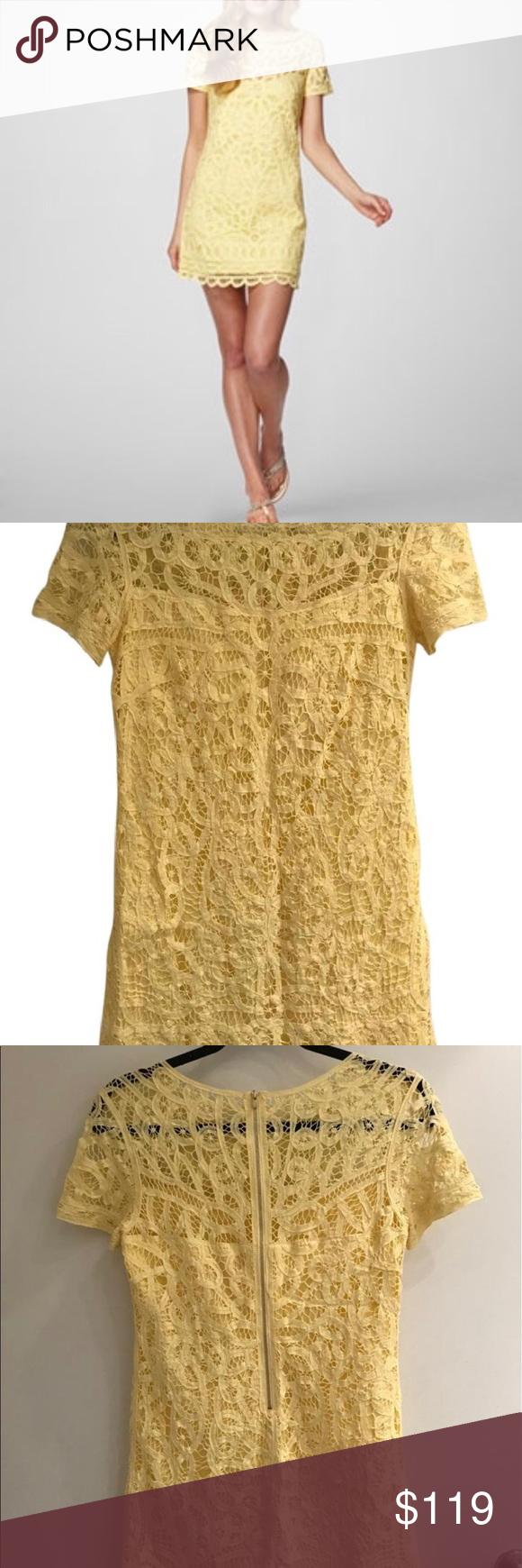Lilly pulitzer mariekate dress yellow lace dress like new