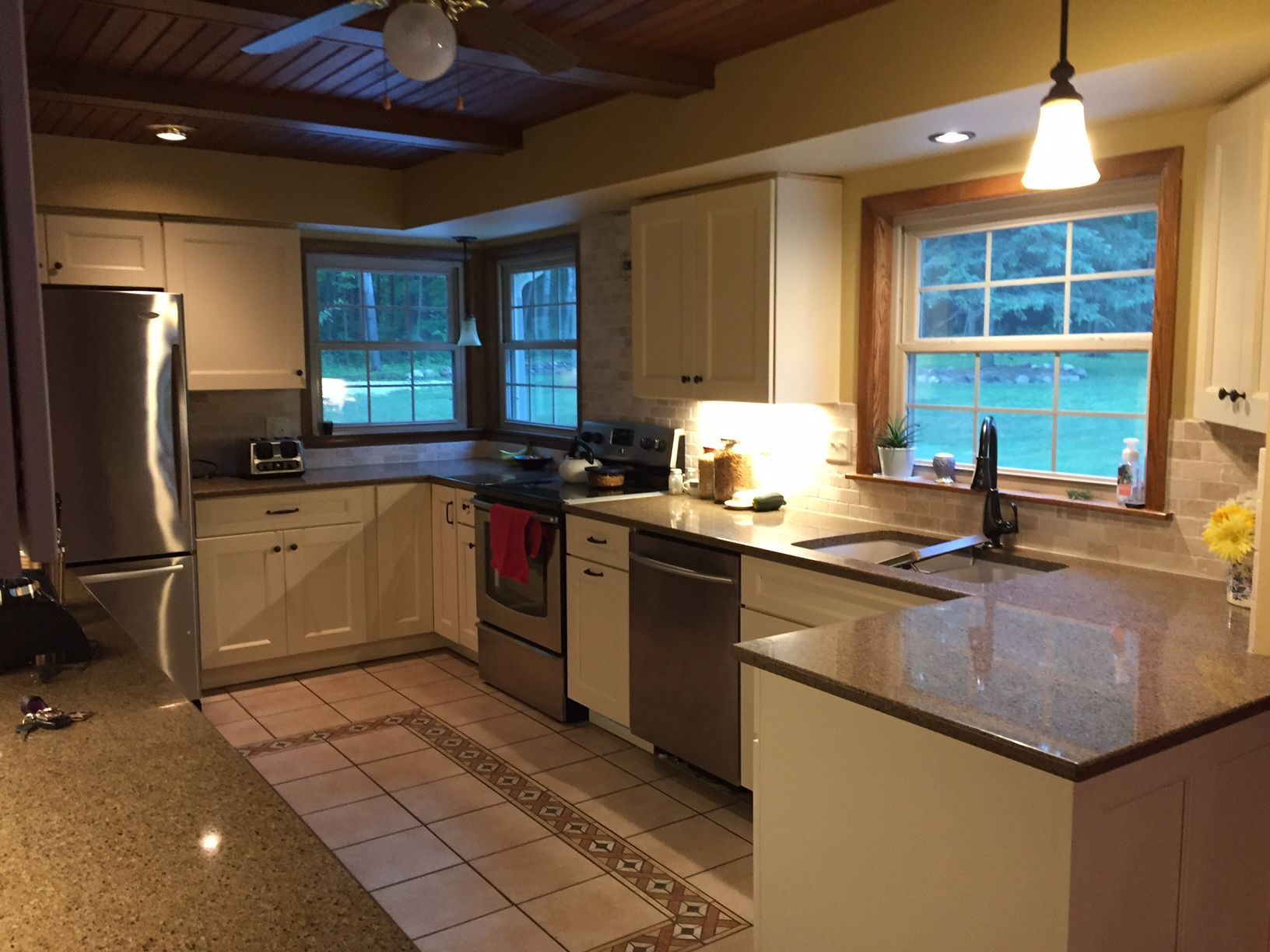We Received A Great Review From A Recent Guest After Purchasing Quartz Countertop This Guest Hired Mr Krug To Install It In Menards Menards Store Homeowner