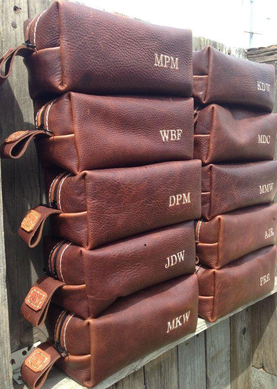25502e096a HANDMADE Men s Leather Toiletry Case Dopp Kit Shaving Bag OOAK Groomsmen  Present Groomsman Gift Wedding Groom Lifeless Leather Co Cognac Bag on  Etsy