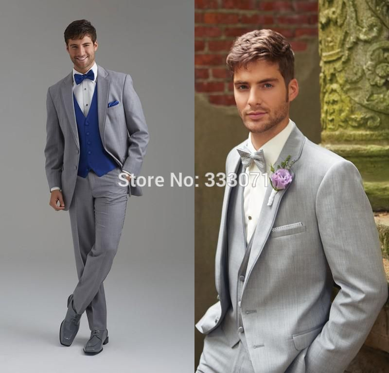 Click to Buy << tailor made Hot Groom Suits Slim Fit Two Buttons ...