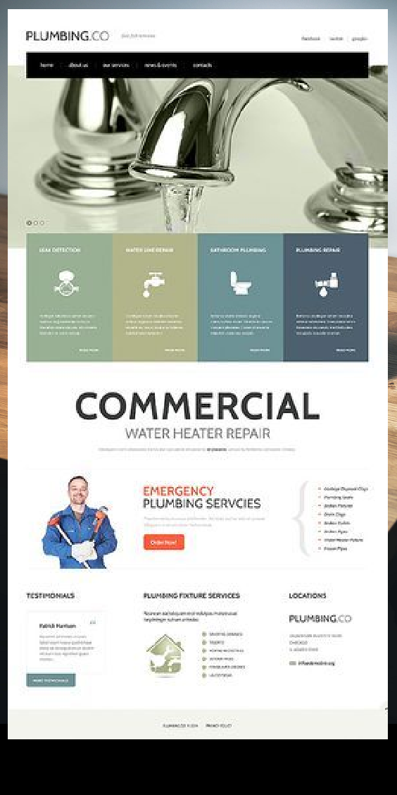Full Plumbing Services Website Template 47769 Website Template Business Website Design Templates Business Website Design