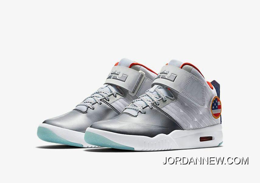 Top Nike Air LeBron Akronite Chrome Team Orange University Red Deep Royal New Basketball Shoes