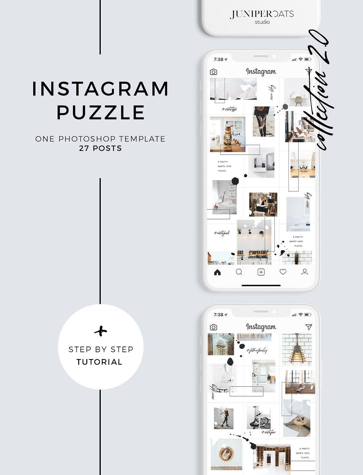 Heart Soul Instagram Puzzle Template