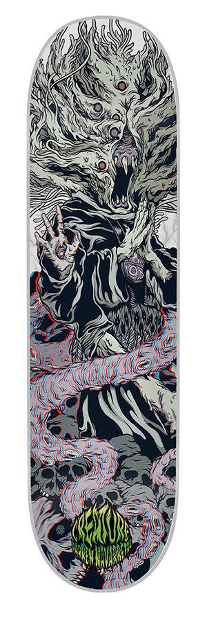 Creature Ritual 3D Skateboard Deck 8.8 Navarrette.