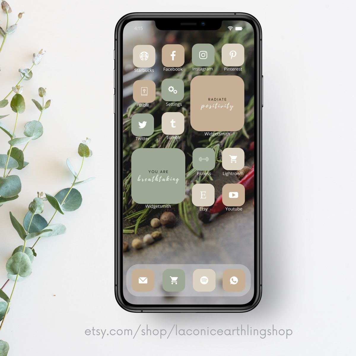 If you don't know how to customize, first check out a … IOS 14 Earth Tones Neutral Aesthetic 600 App Icons Pack ...