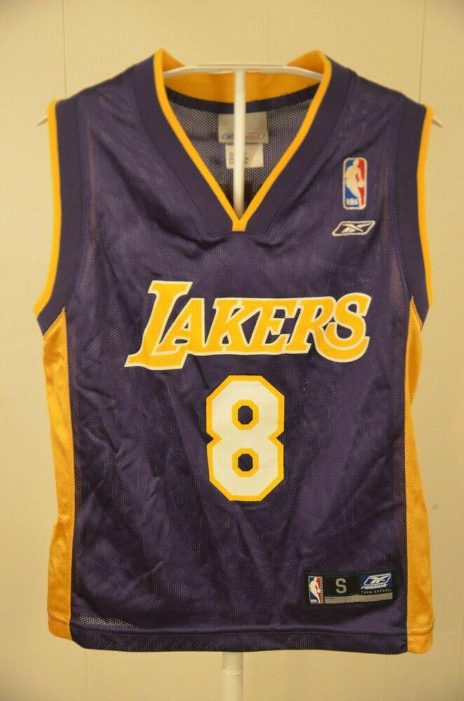 feddee38199 Reebok Los Angeles Lakers Jersey #8 Kobe Bryant NBA Kids Youth Small (8)  Purple #Reebok #LosAngelesLakers