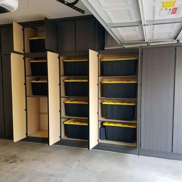 Top 70 Best Garage Cabinet Ideas Organized Storage Designs Garage Interior Garage Cabinets Garage Organisation