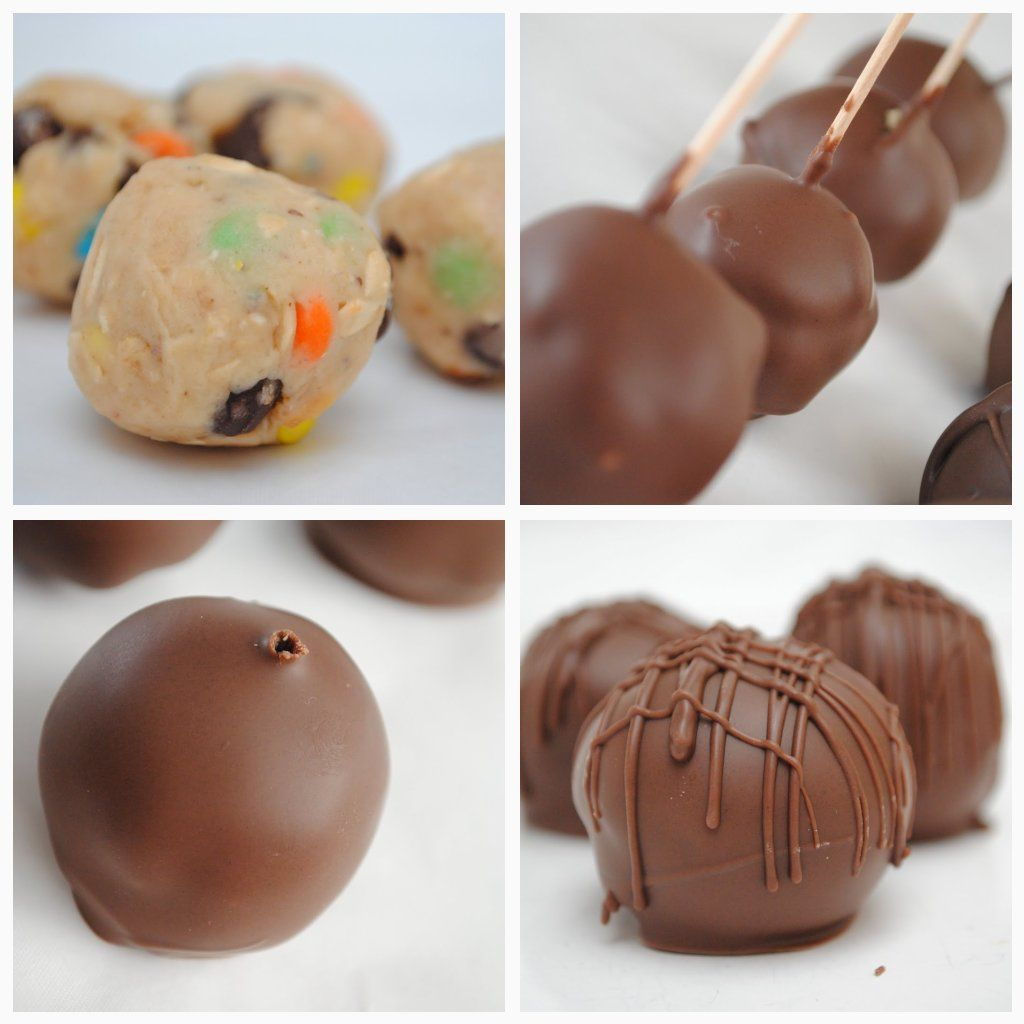 Something Swanky: desserts and designs.: Monster Cookie Dough Truffles