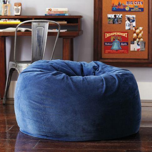 Excellent Navy Corduroy Beanbag Pbteen Rys Big Boy Room Bean Bag Cjindustries Chair Design For Home Cjindustriesco