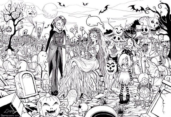 Get The Coloring Page Zombies 20 Printable Pages To Color While Eating Candy Corn Popsugar Smart Living Photo 21