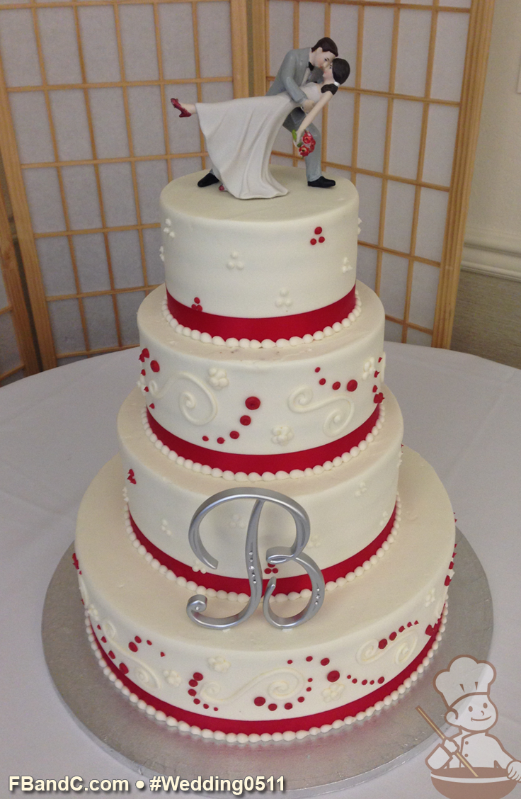 Debut Cake Designs Red Ribbon : Design W 0511 Butter Cream Wedding Cake 14