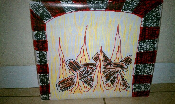 """""""Magic fireplace"""" box for Santa to come in"""