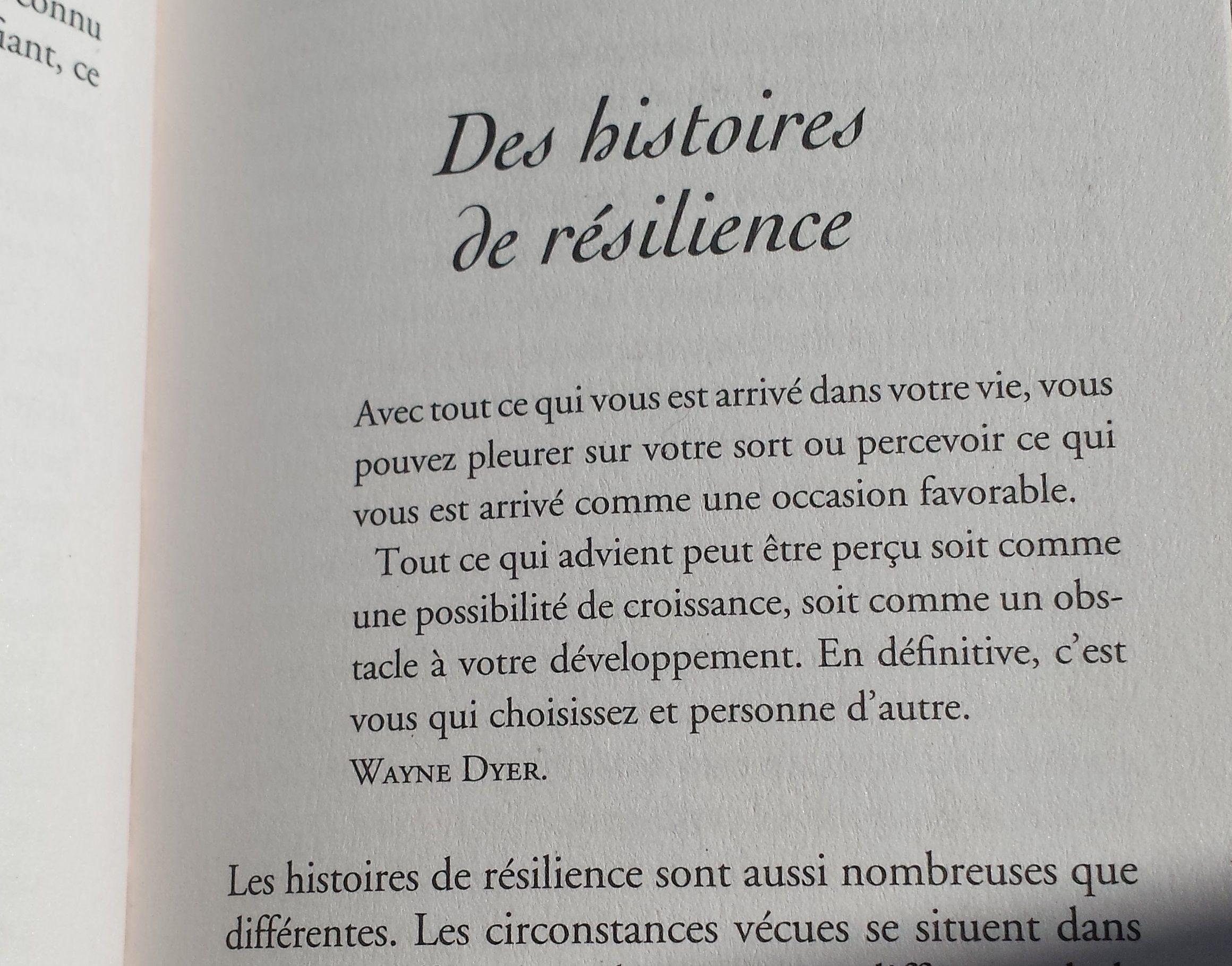 De Histoire Resilience Pleurer Sur Son Sort Ou Avancer Extrait Du Livre La Paraphraser Quelquun