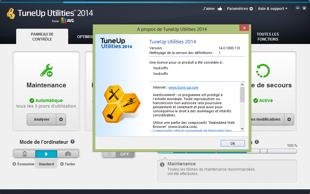 tuneup utilities 2014 v14.0 final with product key and crack
