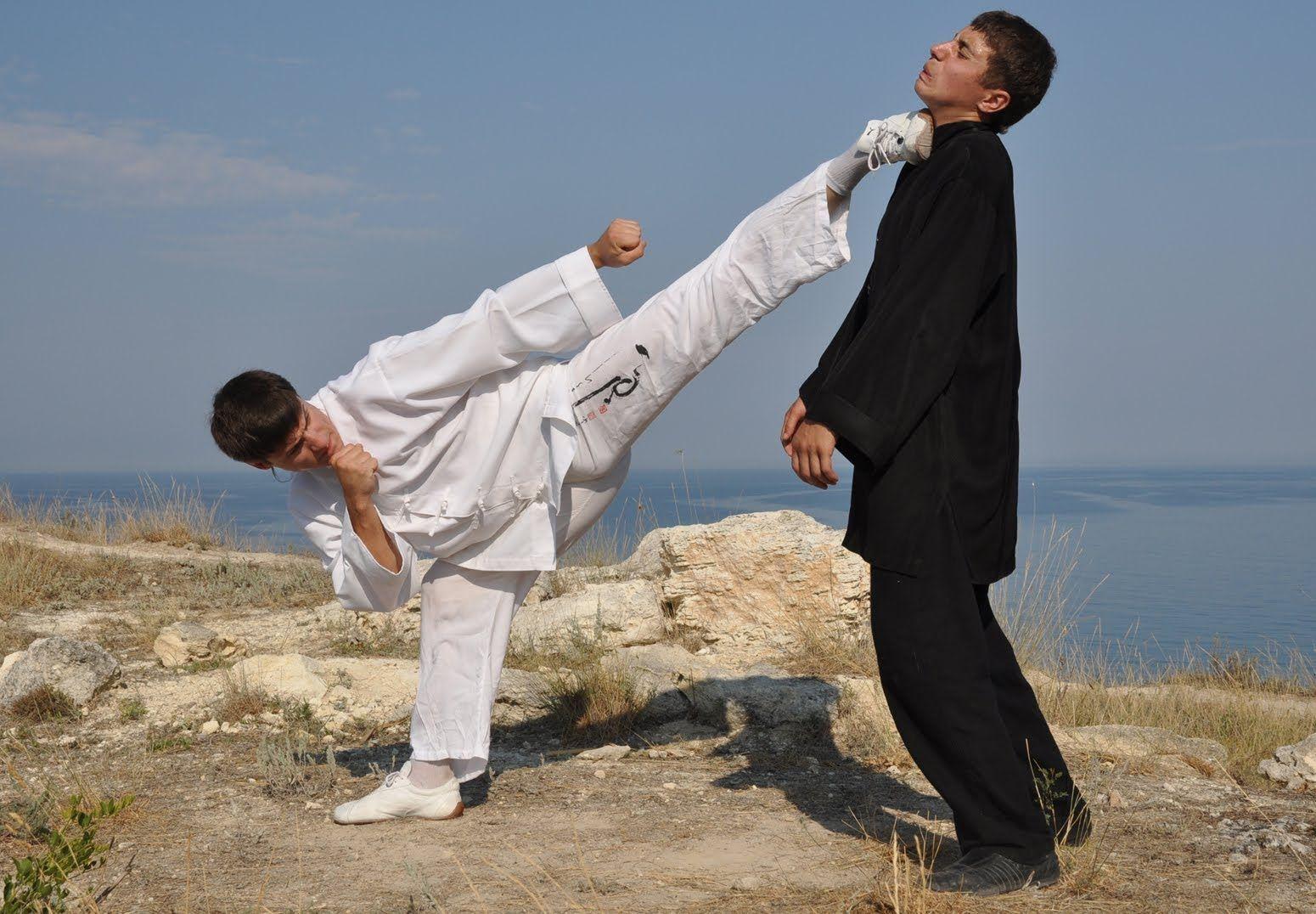 Kick defence - AL present Martial Arts(MMA)