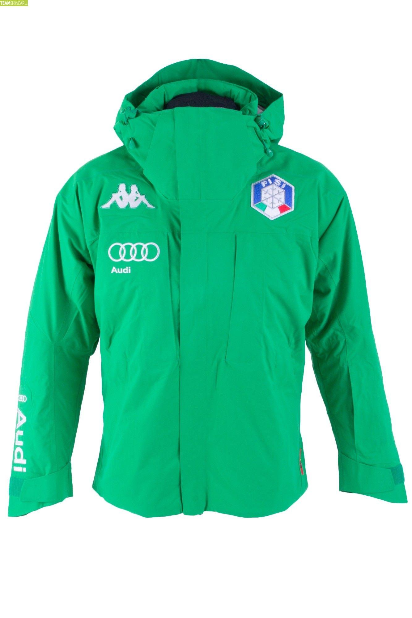 de0f8e5cc1a3 Kappa Men Italian Alpine Team FISI Jacket - Green Grey Silver ...