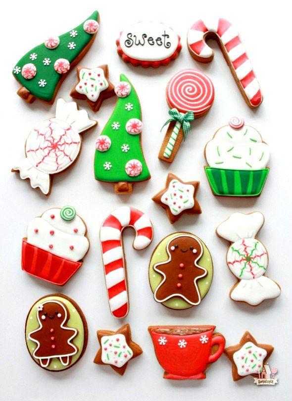 Whimsical Christmas Cookies In 2019 Its Christmas Time Christmas