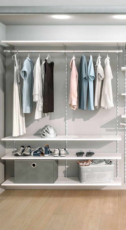 Begehbarer Kleiderschrank Mit Schienensystem Realisiert Begehbarer