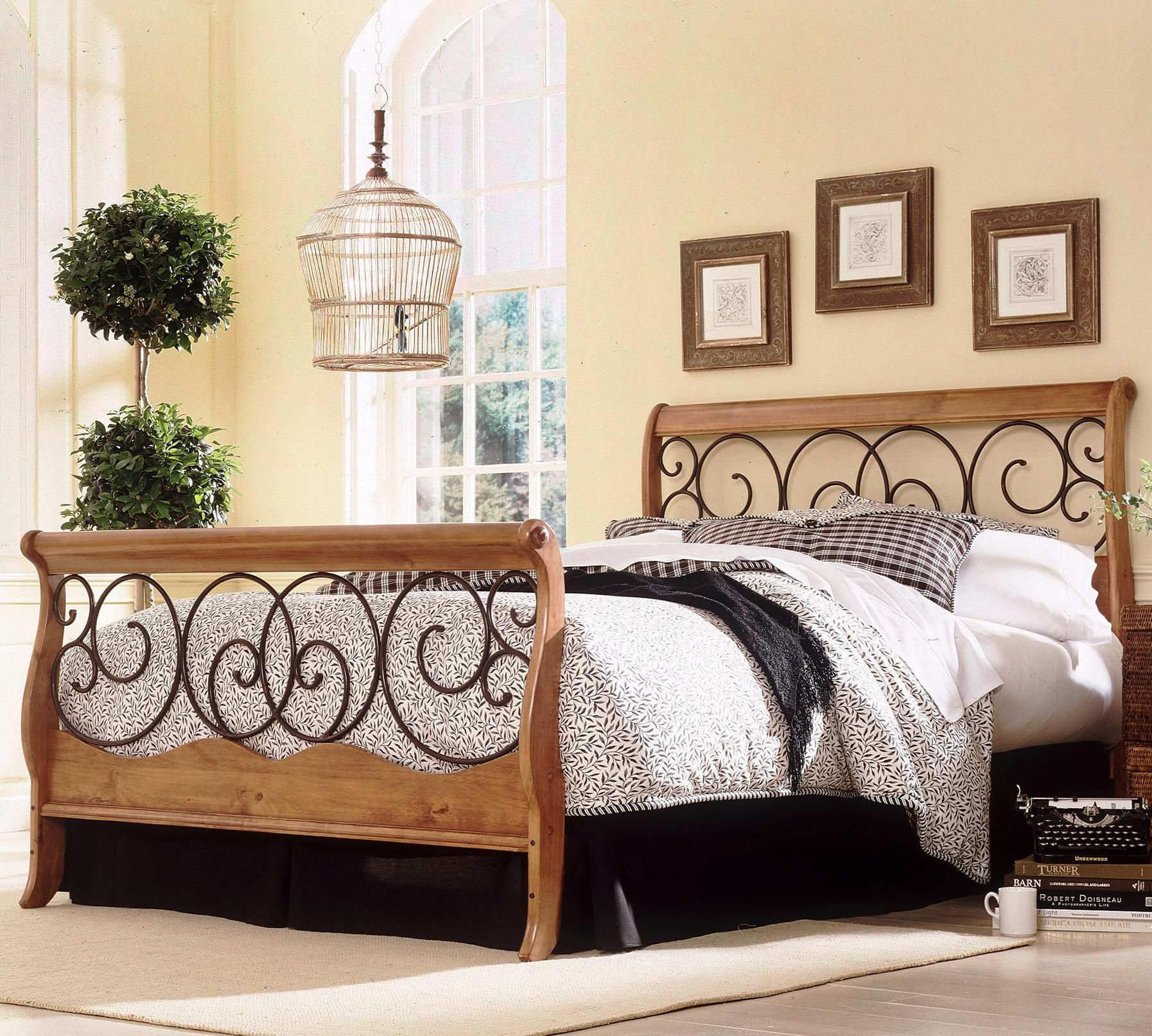 Wood And Metal Beds Queen Dunhill I Headboard By Fashion Bed Group